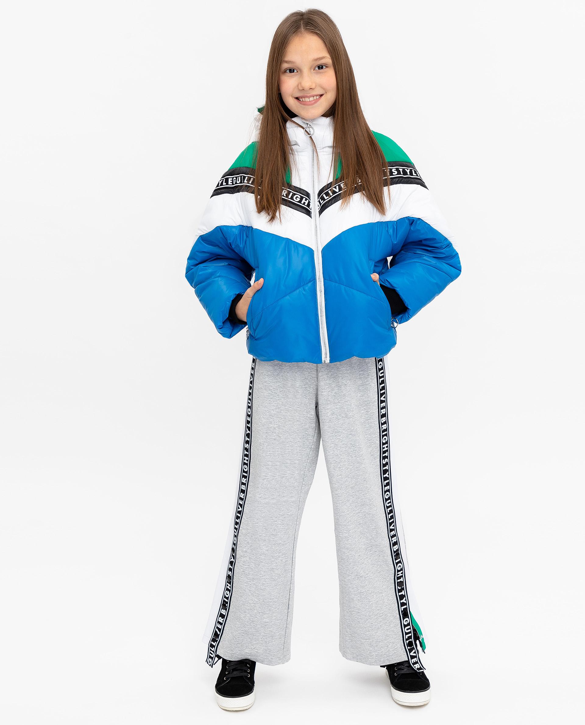 Купить 12009GJC4102, Куртка для девочек Gulliver, цв. синий, р.140,