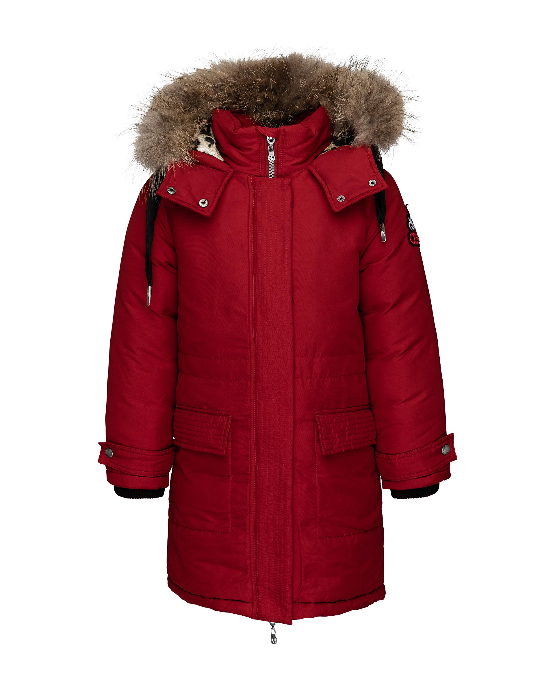 Пальто для девочек Gulliver, цв. красный, р.140 21908GJC4508