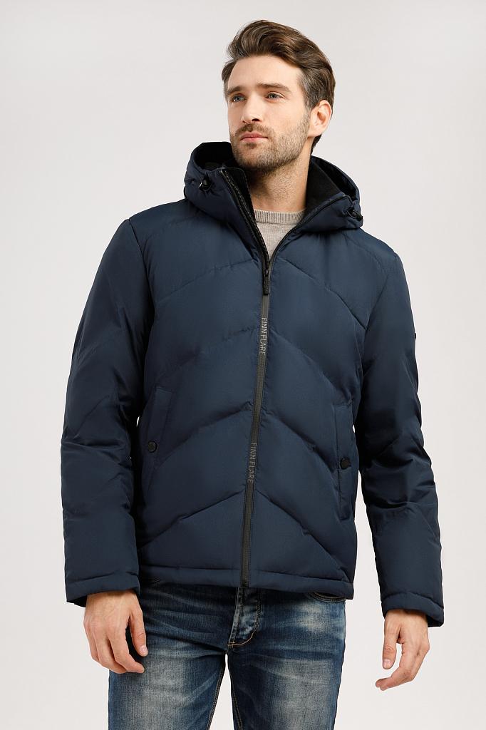 Куртка мужская Finn-Flare W19-42011 синяя XL