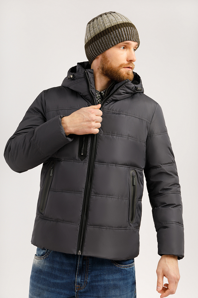 Куртка мужская Finn-Flare W19-22028 серая XL