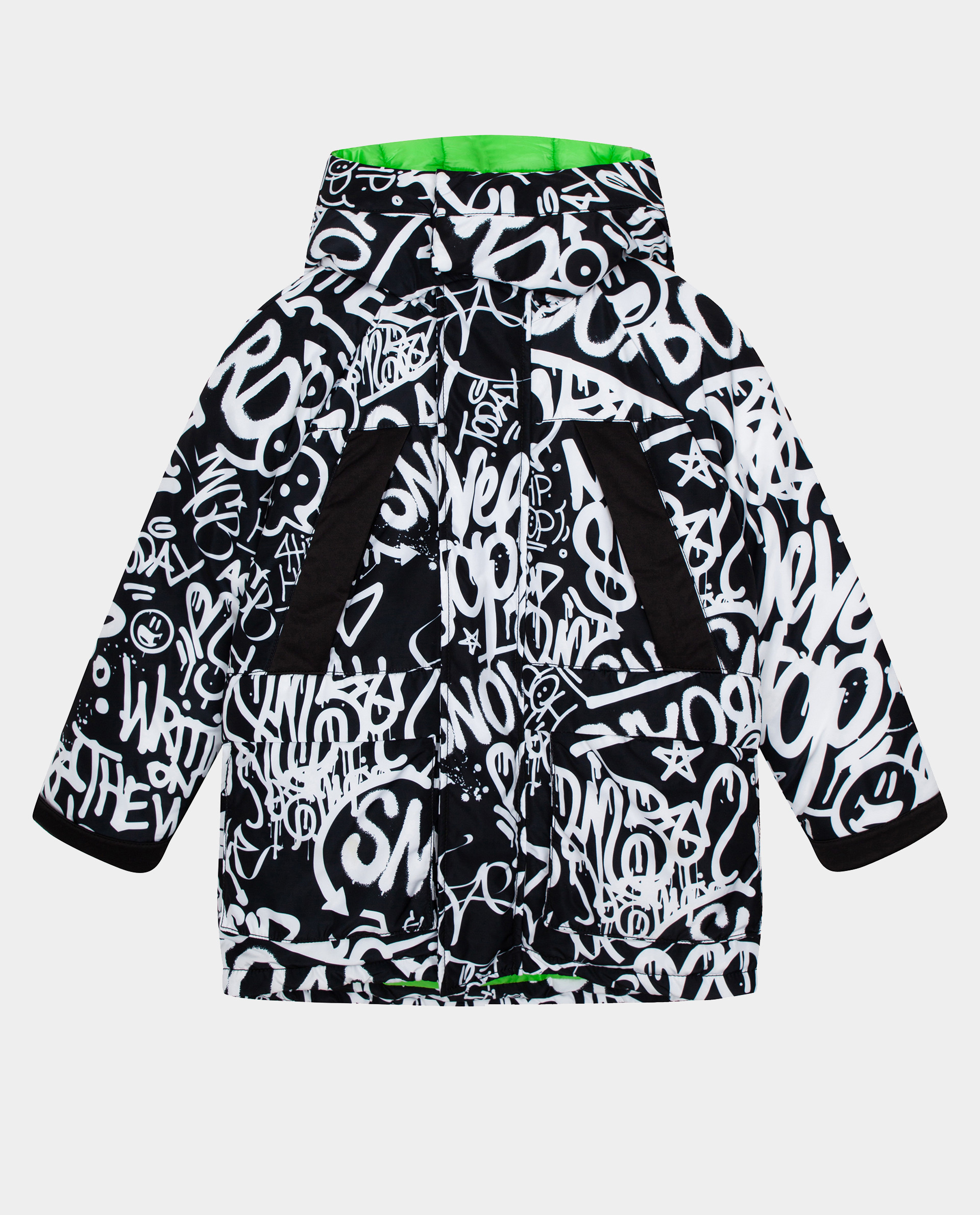 Купить Черная куртка зимняя Gulliver размер 152 22012BJC4104,