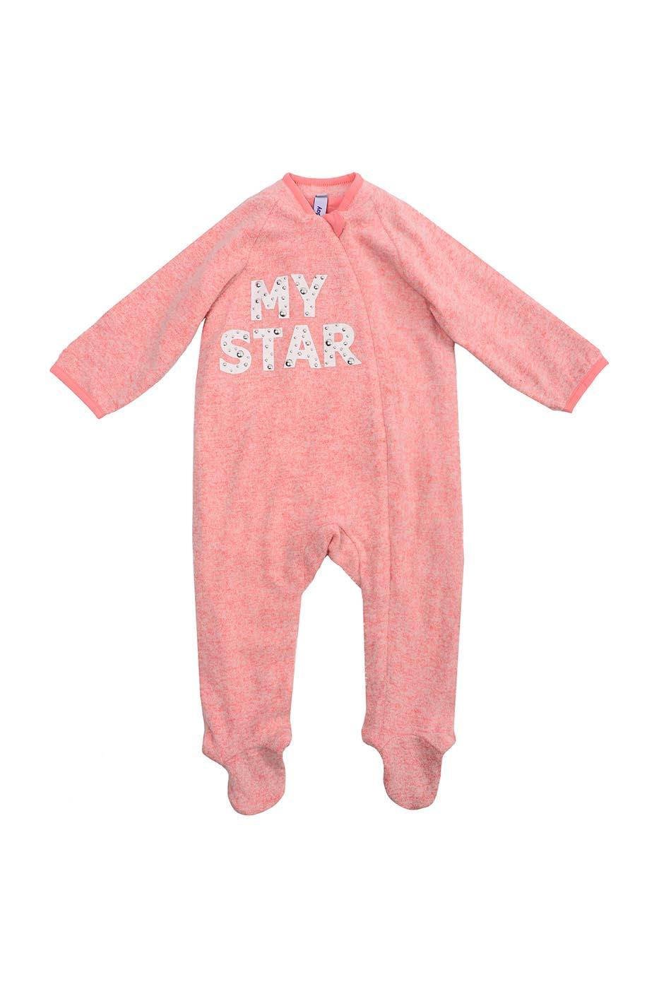 Купить 388802, Комбинезон детский PlayToday, цв. розовый, р-р 74, Play Today, Слипы для новорожденных