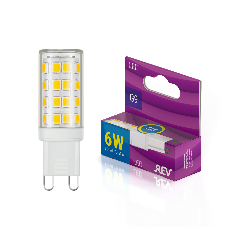 Лампа светодиодная JCD G9 6W, 2700К, теплый свет