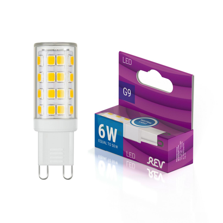 Лампа светодиодная JCD G9 6W, 4000К, холодный свет