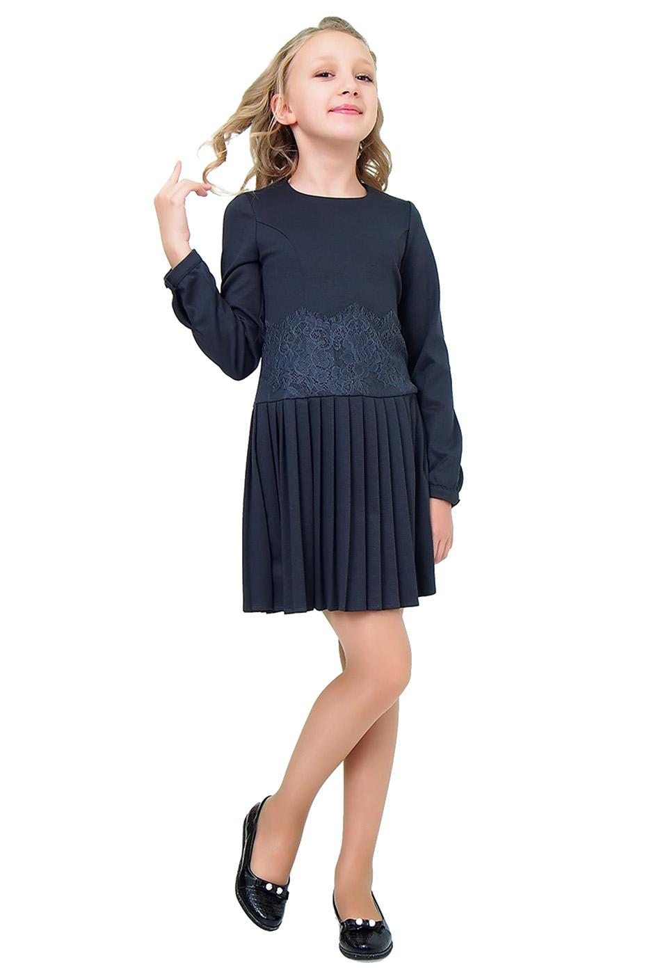 Купить 2С10-3, Платье детское Ladetto, цв. серый, р-р 158, Платья для девочек