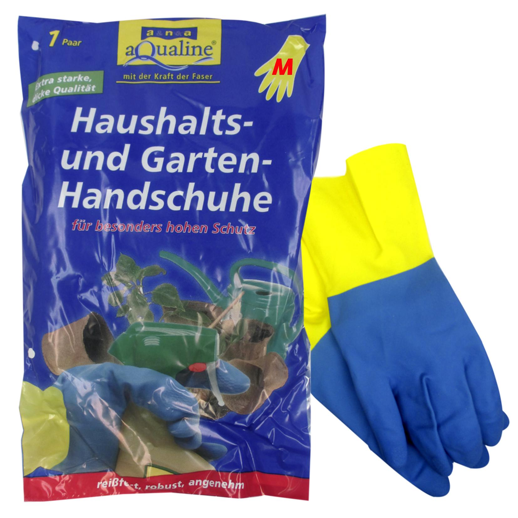 Аквалайн Бытовые резиновые перчатки прочные (средний)