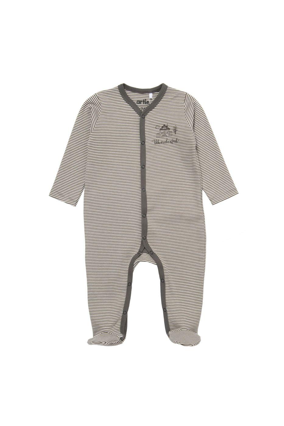 Купить AK-093M, Комбинезон детский artie, цв. серый, р-р 74, Слипы для новорожденных