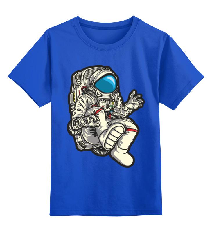 Купить 0000003494283, Детская футболка Printio Астронавт цв.синий р.104,