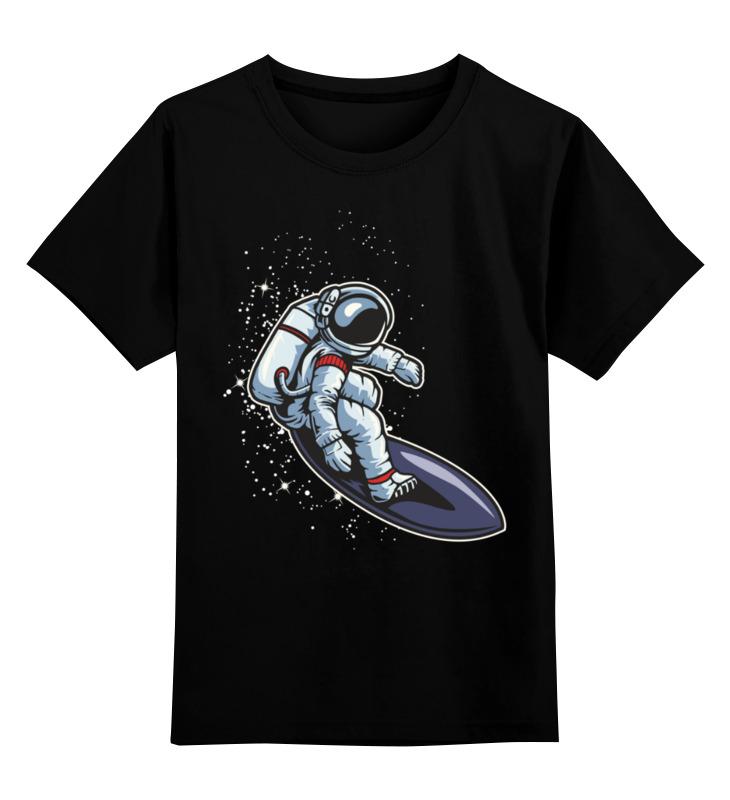 Купить 0000003494297, Детская футболка Printio Астронавт цв.черный р.104,