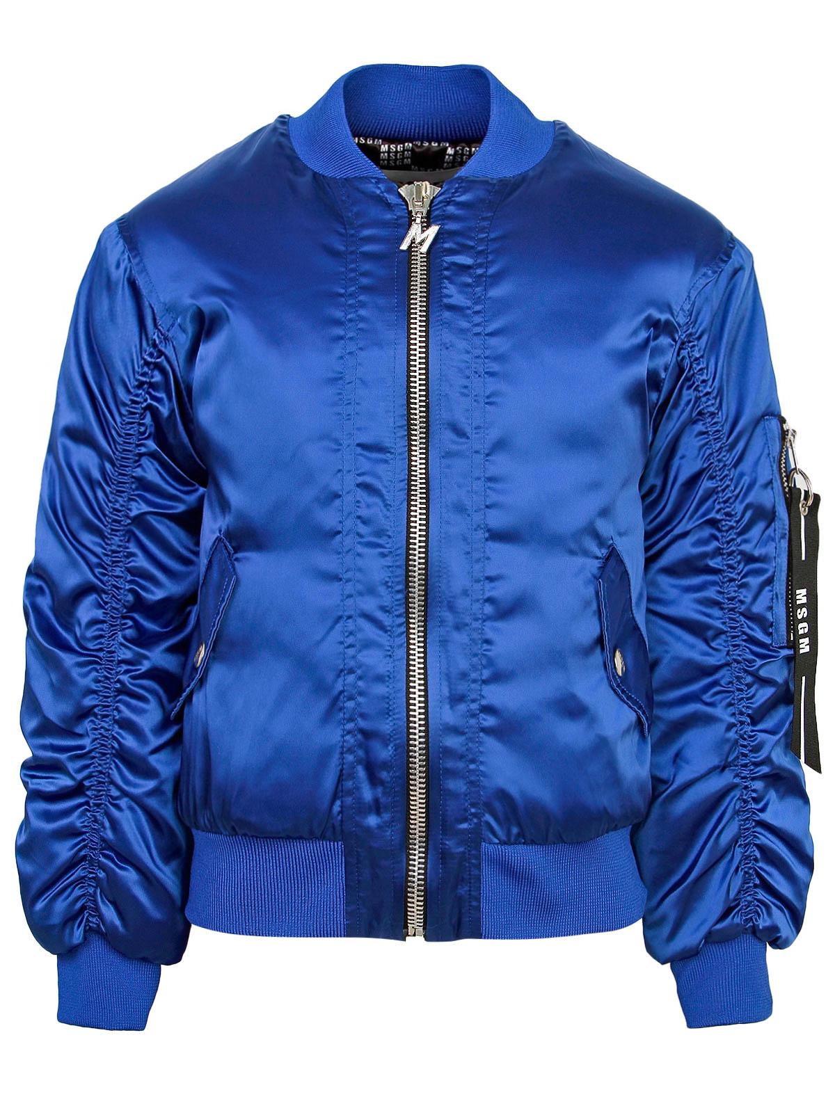Купить Куртка MSGM для девочек 16390 (061) синий 116,