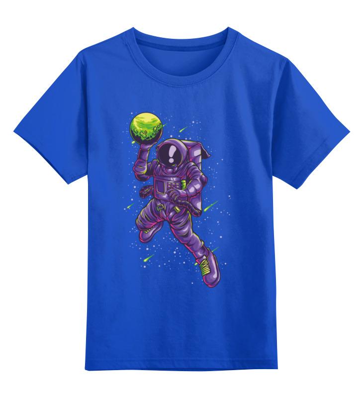Купить 0000003536507, Детская футболка Printio Астронавт цв.синий р.104,