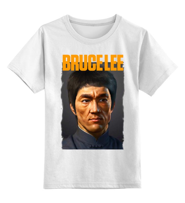 Купить 0000000692259, Детская футболка классическая Printio Bruce lee, р. 128,