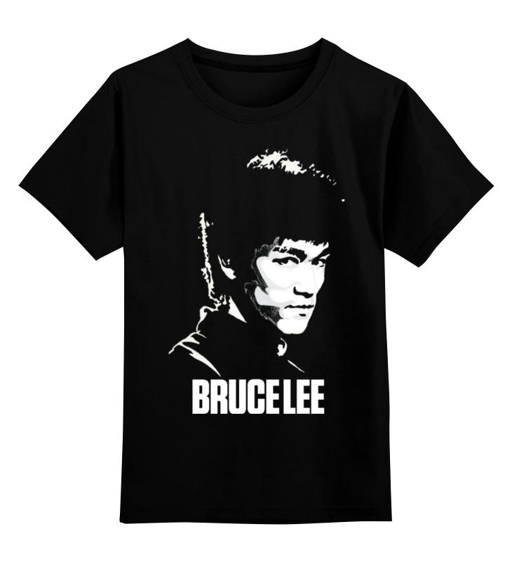 Купить 0000000693638, Детская футболка классическая Printio Bruce lee, р. 128,