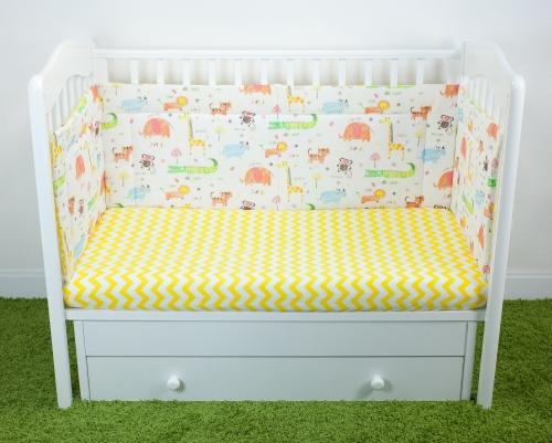 Купить Бортики для детской кроватки 'Джангл' 45 см, Бортики для детской кроватки Magic City БК-ББ-009/45 Джангл,