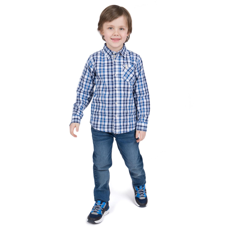 Рубашка Leader Kids, цвет: синий р.122