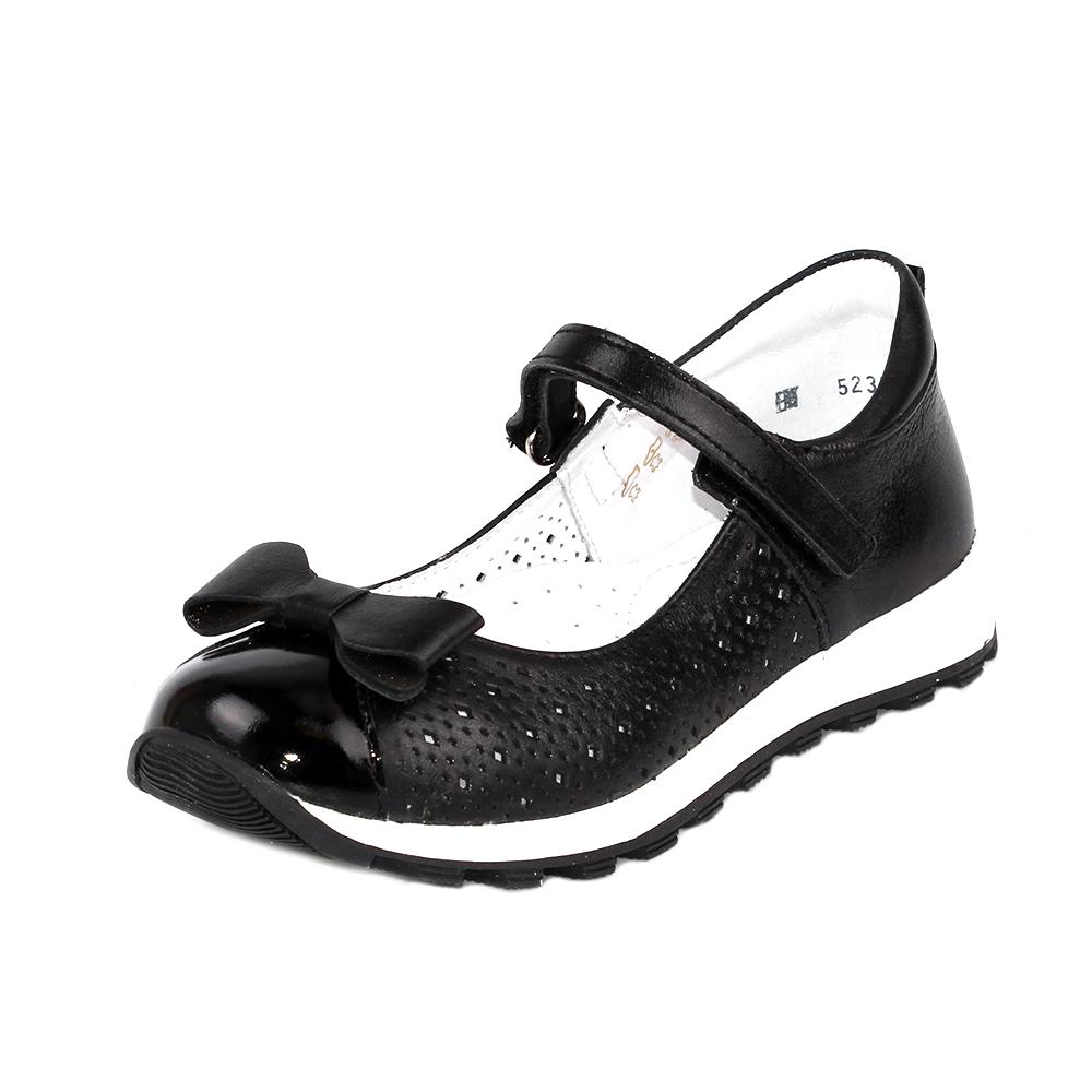Купить 5-523572101, Туфли ELEGAMI школьные для девочки черные р.33 5-52р.3572101,