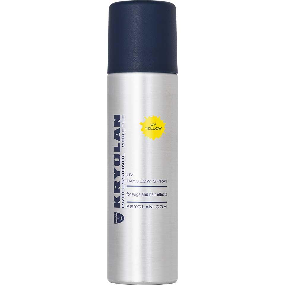Купить Лак для волос Kryolan УФ/UV-Dayglow Spray, Цв: Yellow/2254_Yellow 150 мл, Лак для волос УФ, 150 мл.