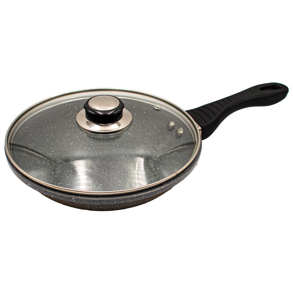 Сковорода с антипригарным покрытием 22 см, мраморный
