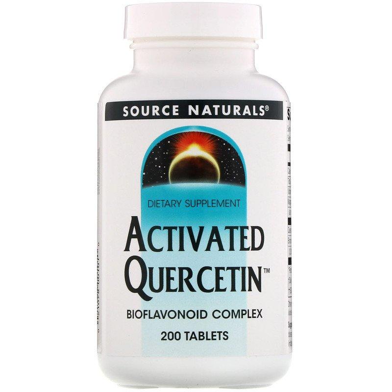 Купить Активированный кверцетин SOURCE NATURALS Activated Quercetin таблетки 200 шт.