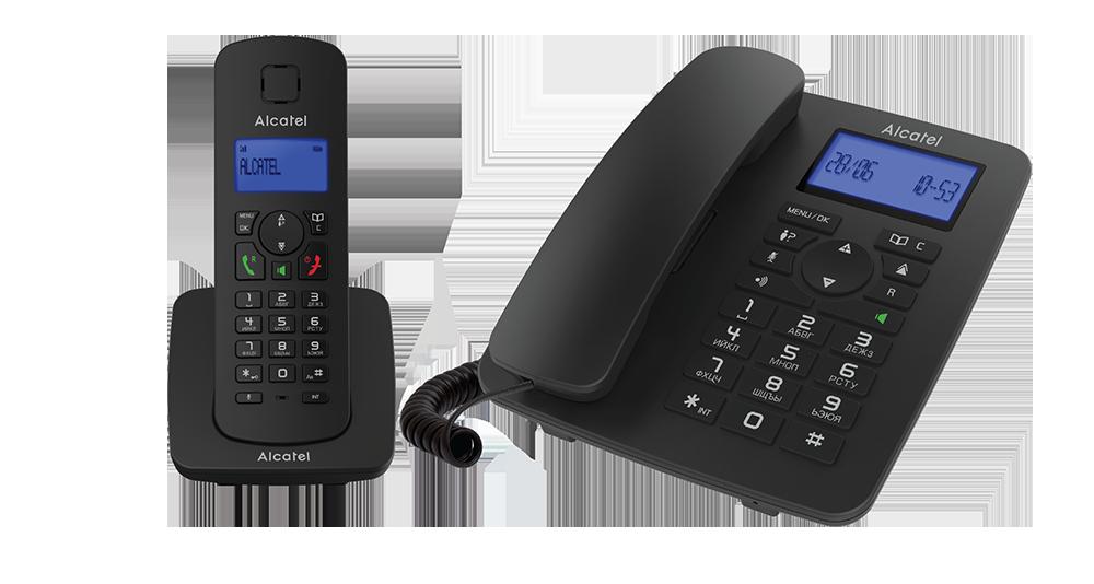 Домашний телефон ALCATEL M350 COMBO RU BLACK