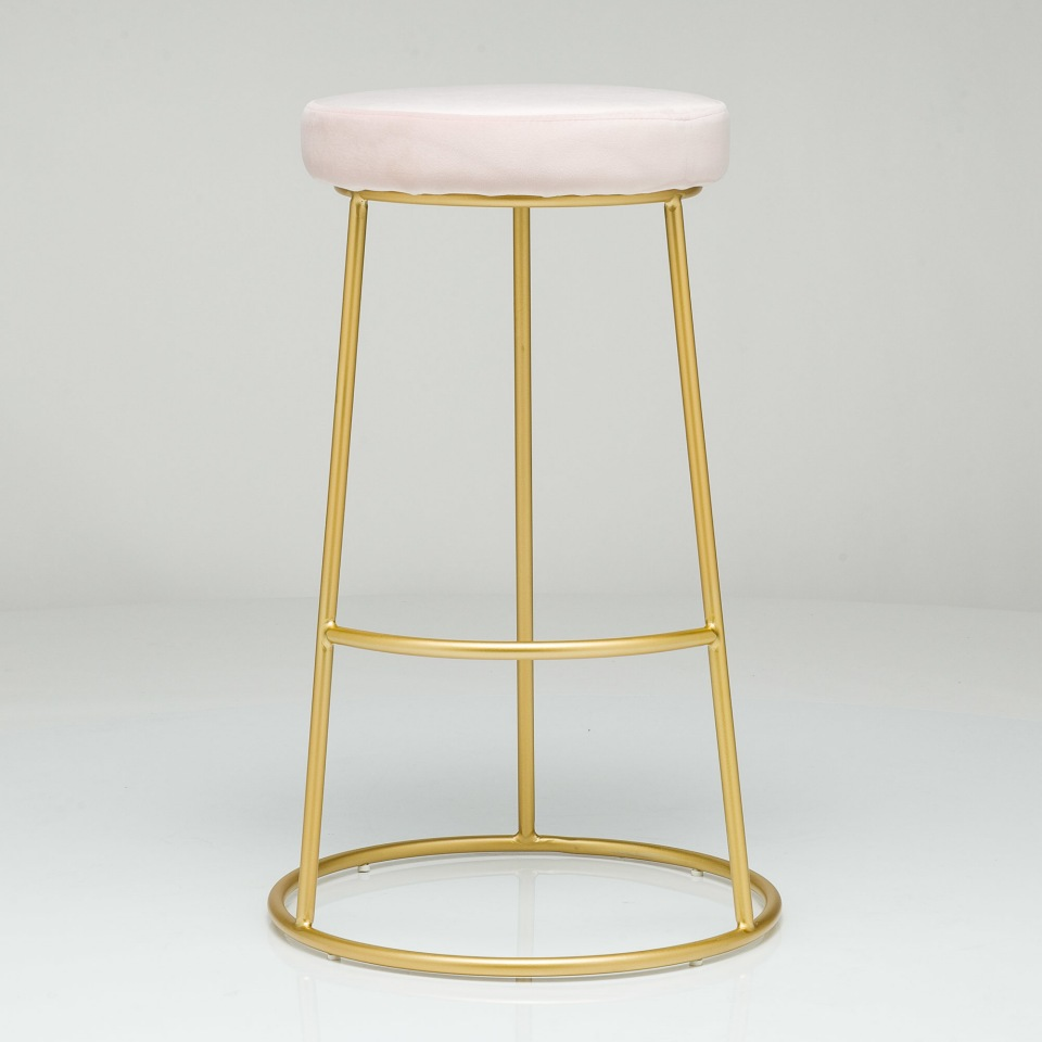Барный стул Austin розовый велюр StoreForHome