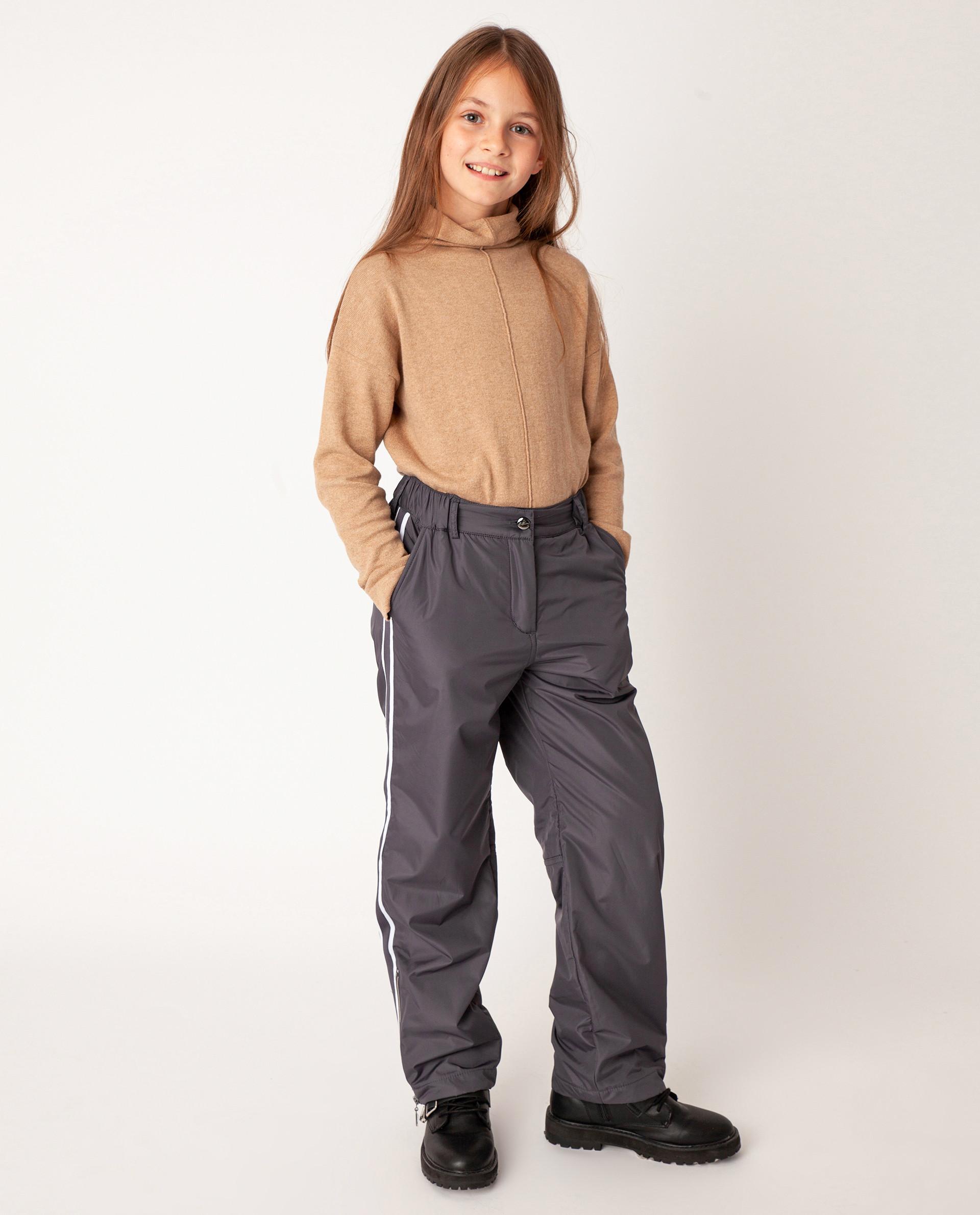 Купить Серые брюки утепленные зимние Gulliver размер 140 22008GJC6407,