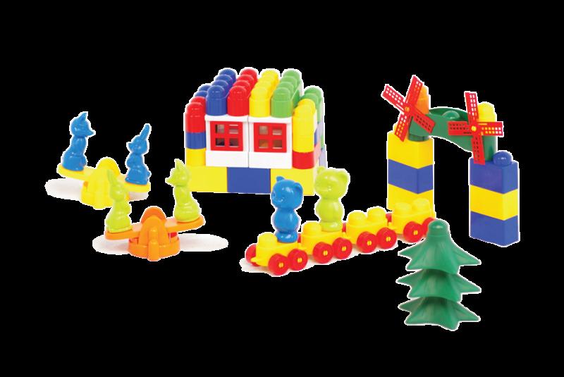 Купить Конструктор Colorplast Мастер Блок №4, 74 детали,