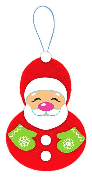 Купить Набор для изготовления фигурки из фетра Дед Мороз , Clever,