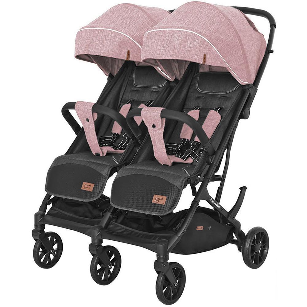 Купить 6900090000253, Коляска для двойни прогулочная Carrello CRL-5506 Presto Duo Cherry Pink,