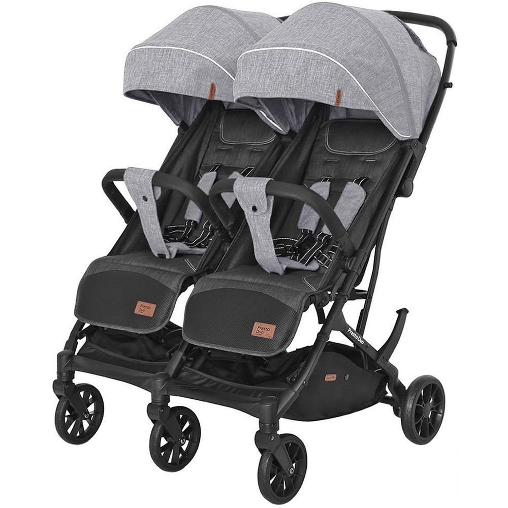 Купить 6900090000277, Коляска для двойни прогулочная Carrello CRL-5506 Presto Duo Pitch Grey,