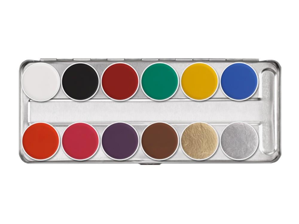 Аквагрим в палитре 12 цв./Aquacolor Palette