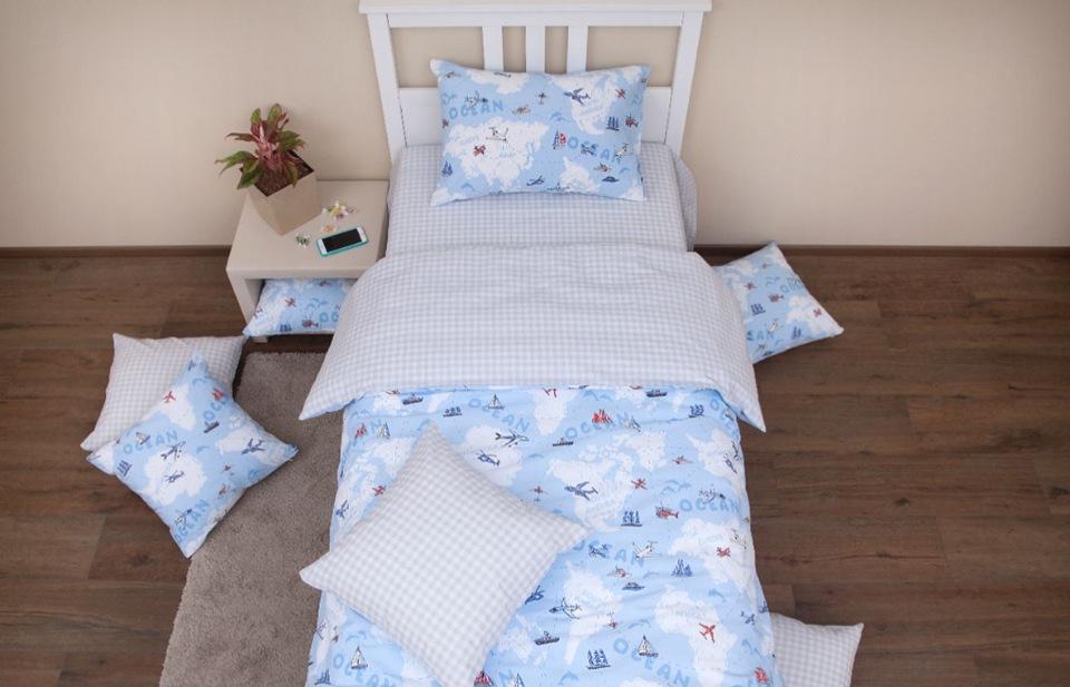 Купить Комплект постельного белья Хлопковый Край Avventura blue 1, 5 спальный,