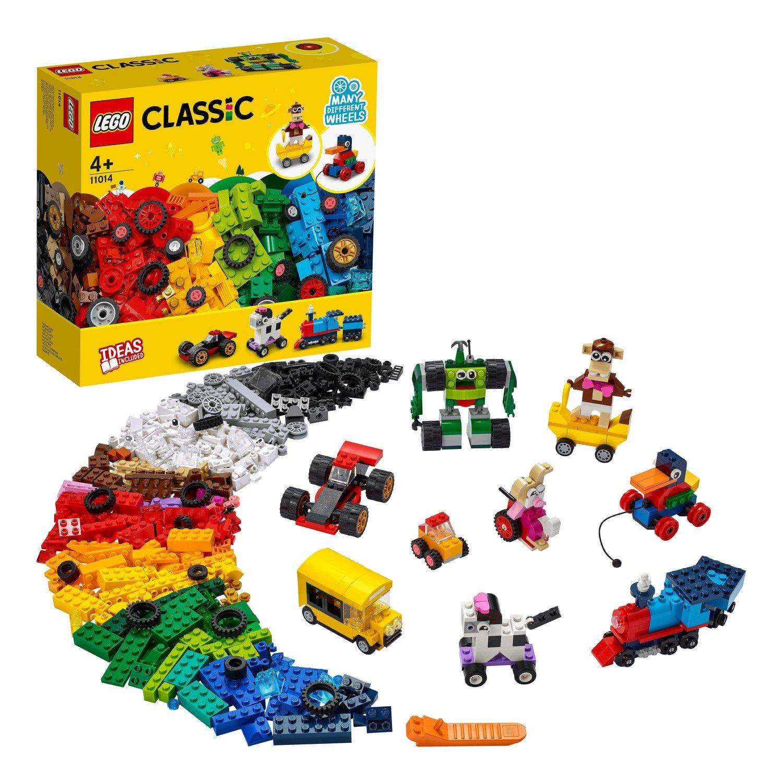 Купить Конструктор LEGO Classic 11014 Кубики и колёса,