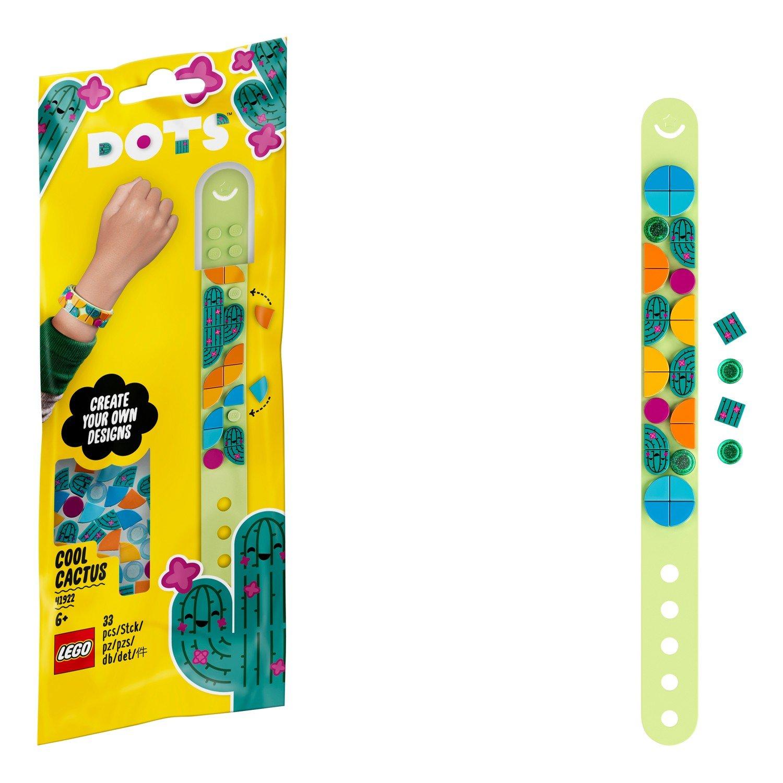 Купить Набор для творчества LEGO DOTS 41922 Браслет «Стильный кактус»,