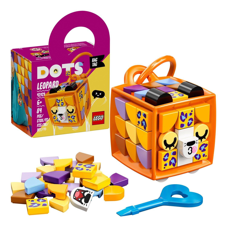Купить Набор для творчества LEGO DOTS 41929 Брелок «Леопард»,