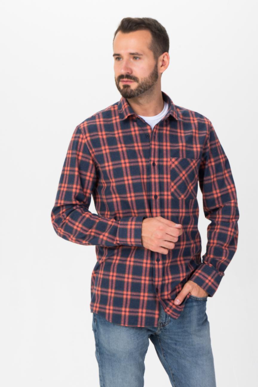 Рубашка мужская F5 7190 оранжевая 50