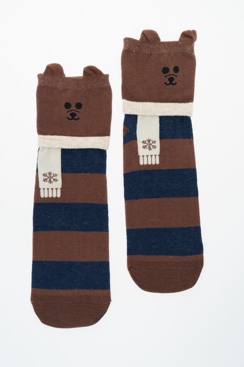 Носки женские Kawaii Factory KW009-000795 коричневые 36-38