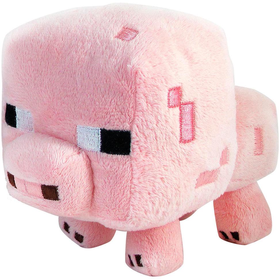 Плюшевый Поросёнок из Майнкрафт, 13 см Lele