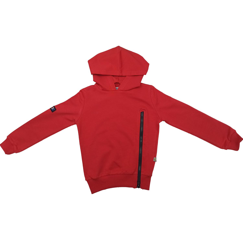 1473, Джемпер с капюшоном Папитто (цвет: красный, рост: 110-116 см, возраст: 5-6 лет),  - купить со скидкой