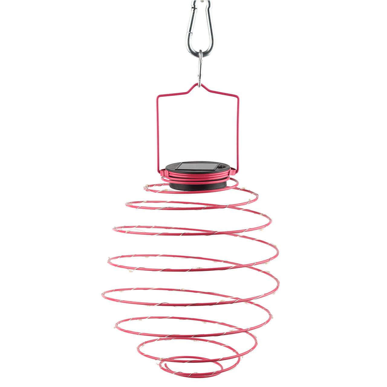 Садовый подвесной светильник Спираль на солнечной батарее