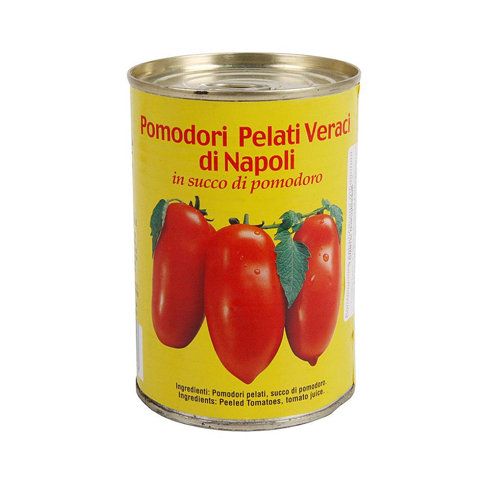 Томаты Sapori di Napoli очищенные в собственном соку консервированные 400 г