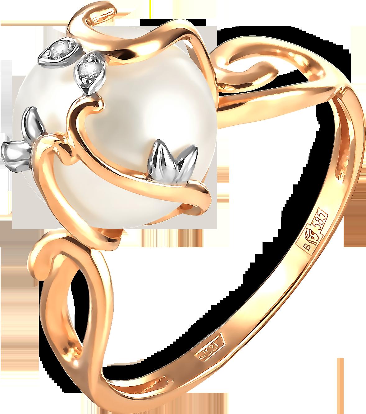 Кольцо женское Примаэксклюзив 190-1-1018Р р.17.5