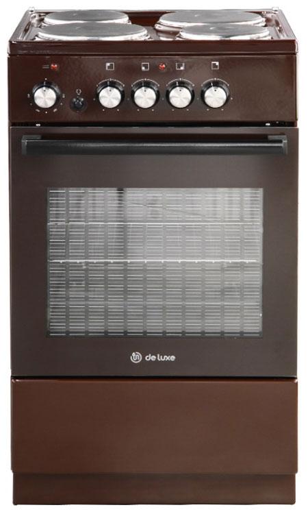 Плита электрическая DeLuxe 5004.18э 014 Brown