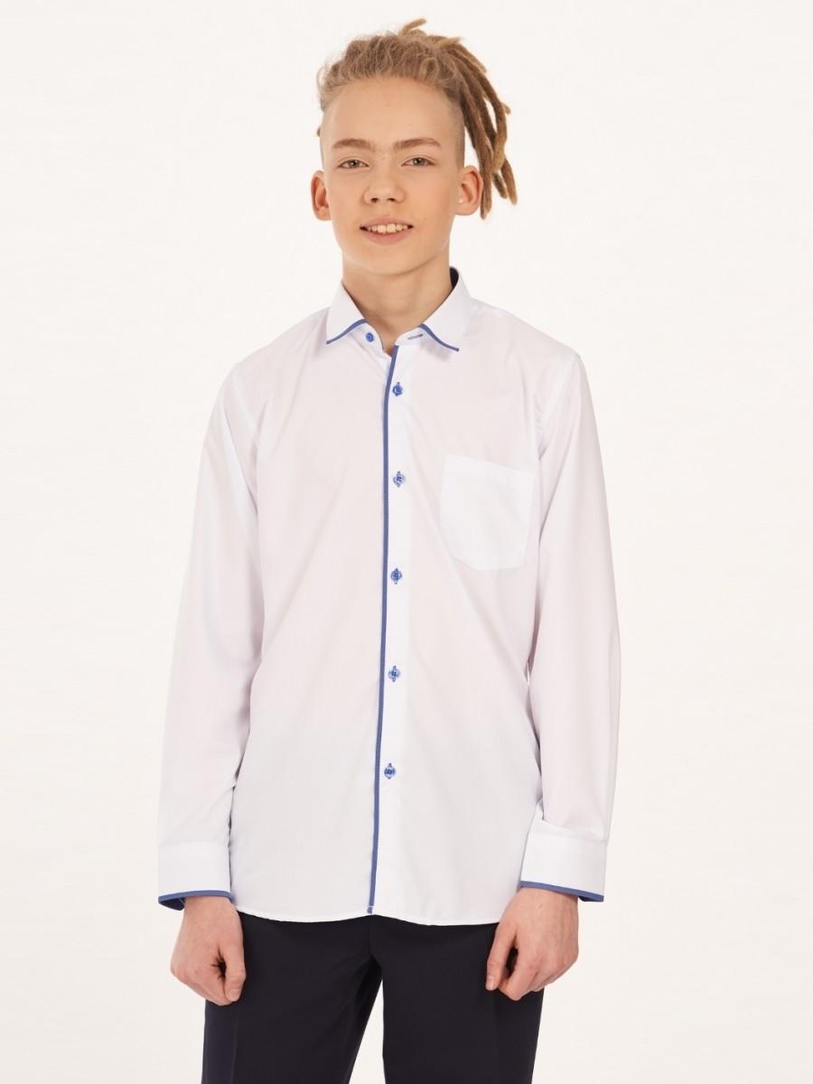 Сорочка приталенного силуэта для мальчика Nota Bene (цвет: джинс, рост 140-146 см)