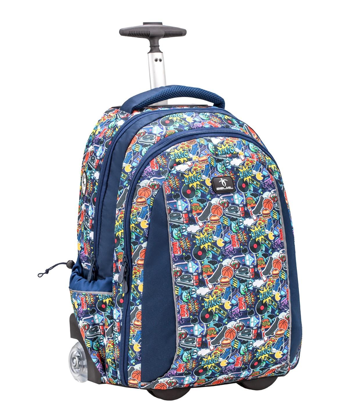 Купить Рюкзак на колесах Belmil Easy Go - Graffity, Детские чемоданы