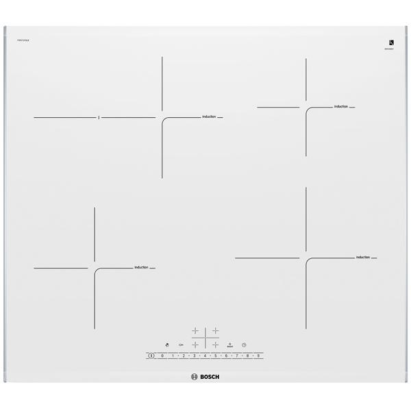 Встраиваемая варочная панель индукционная Bosch PIF672FB1E White