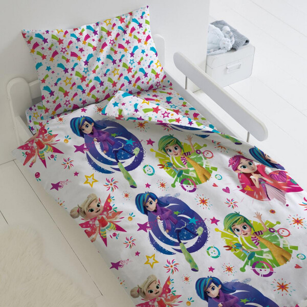 Купить Комплект постельного белья Тейковский ХБК Фееринки (70х70) Феи 1, 5-спальный,