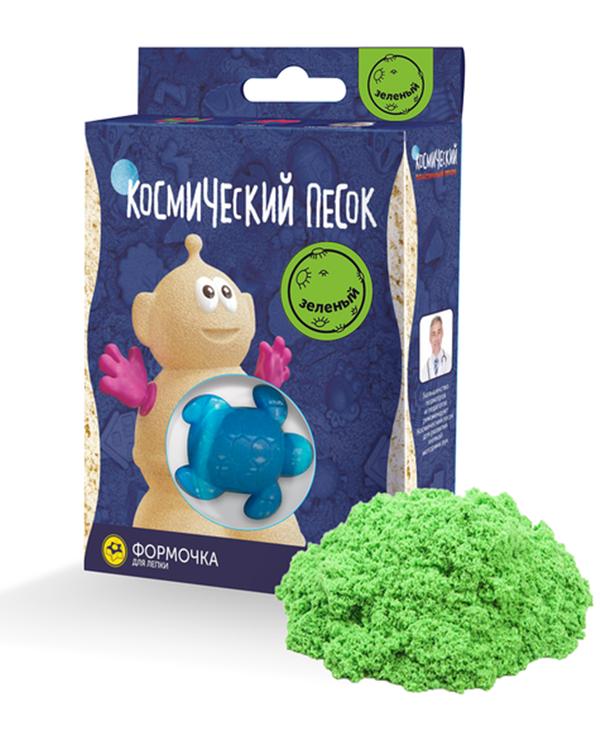 Купить Космический песок пластичный Зеленый 150 г, Космический Песок,
