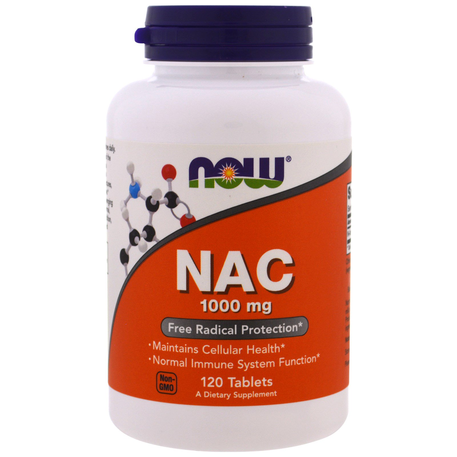 Купить N-ацетил цистеин NOW NAC 1000 мг таблетки 120 шт.