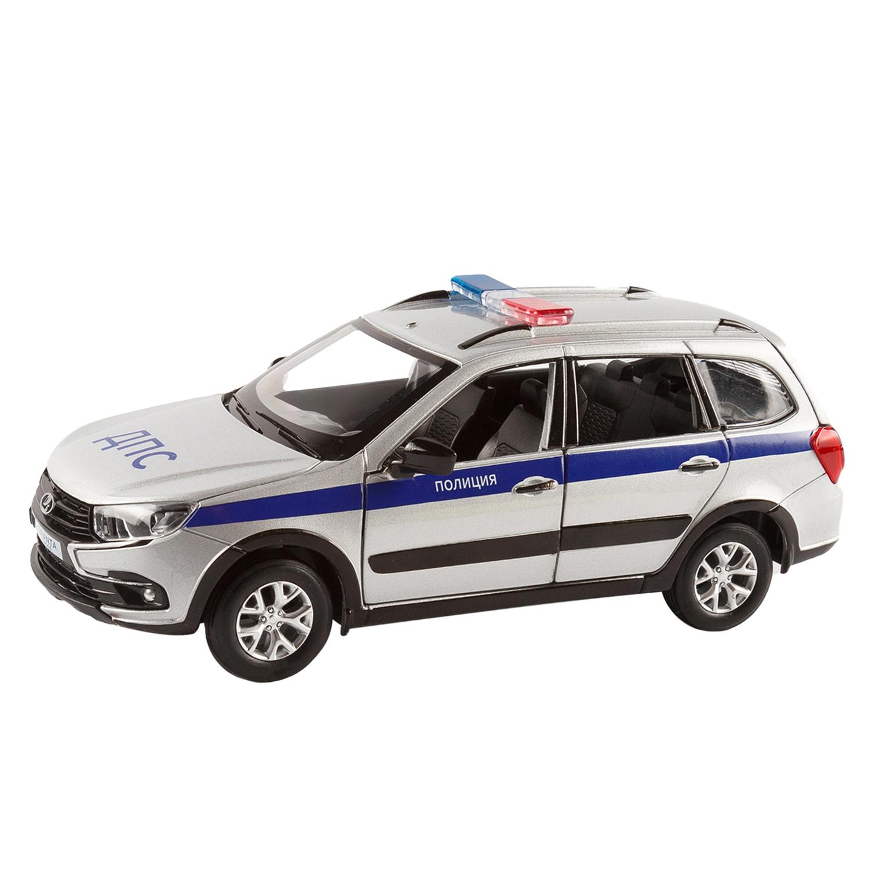 Купить Машинка металлическая ТМ Автопанорама LADA GRANTA CROSS Полиция серебряный 1:24 JB1251202,